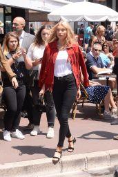 Elsa Hosk Chic Street Style - Cannes 05/24/2017