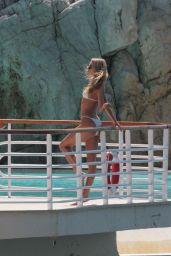 Elsa Hosk in a White Bikini - Cannes 05/24/2017
