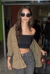 Emily Ratajkowski Arrives at Nice Airport in France 05/16/2017