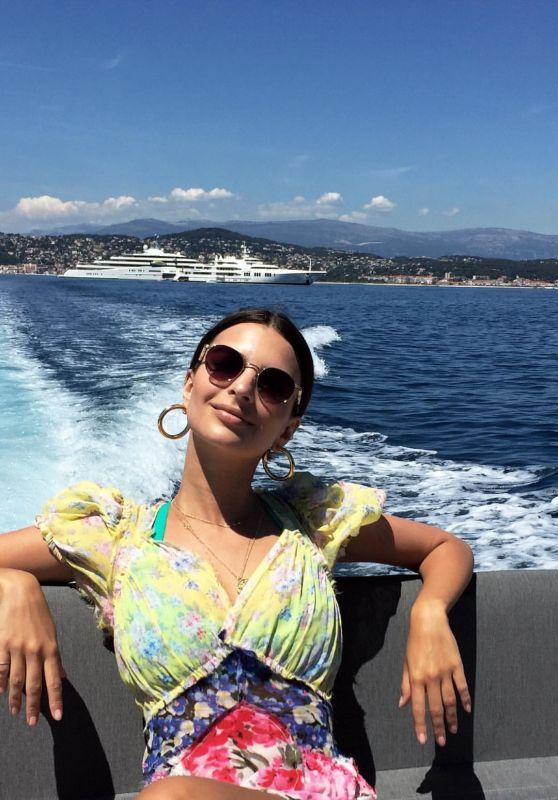 Emily Ratajkowski Social Media Pics, Cannes 2017
