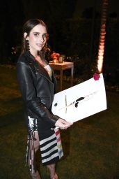 Emma Roberts Style and Fashion Inspirations - Kim Crawford Rose Launch in Beverly Hills 05/09/2017