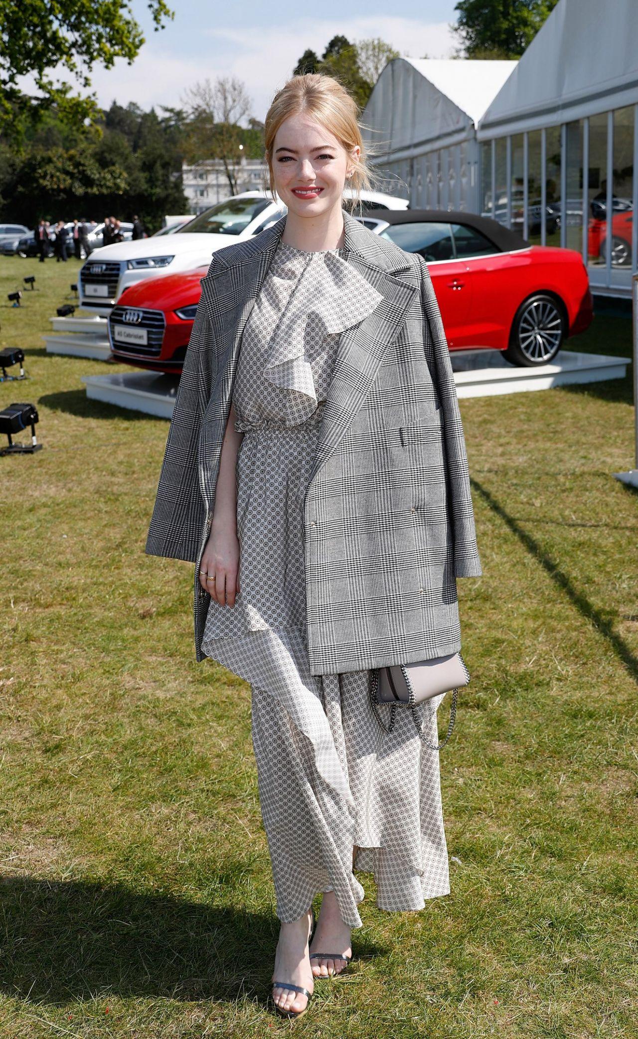 Emma Stone Audi Polo Challenge In Ascot England 05 07 2017