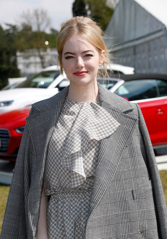 Emma Stone - Audi Polo Challenge in Ascot, England 05/07/2017