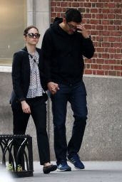 Emmy Rossum and Her Fiance - New York City 05/27/2017