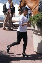 Eva Longoria - Jogging in Cannes 05/18/2017
