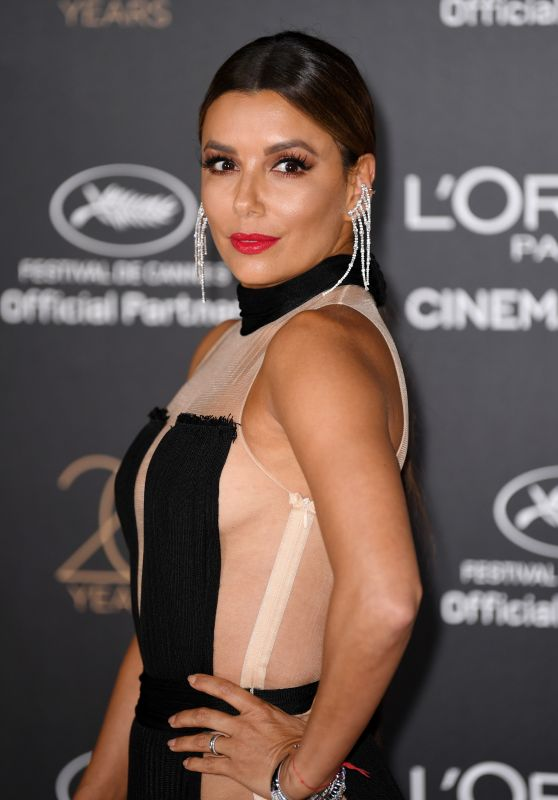 Eva Longoria on Red Carpet – L'Oreal 20th Anniversary Party in Cannes 05/24/2017