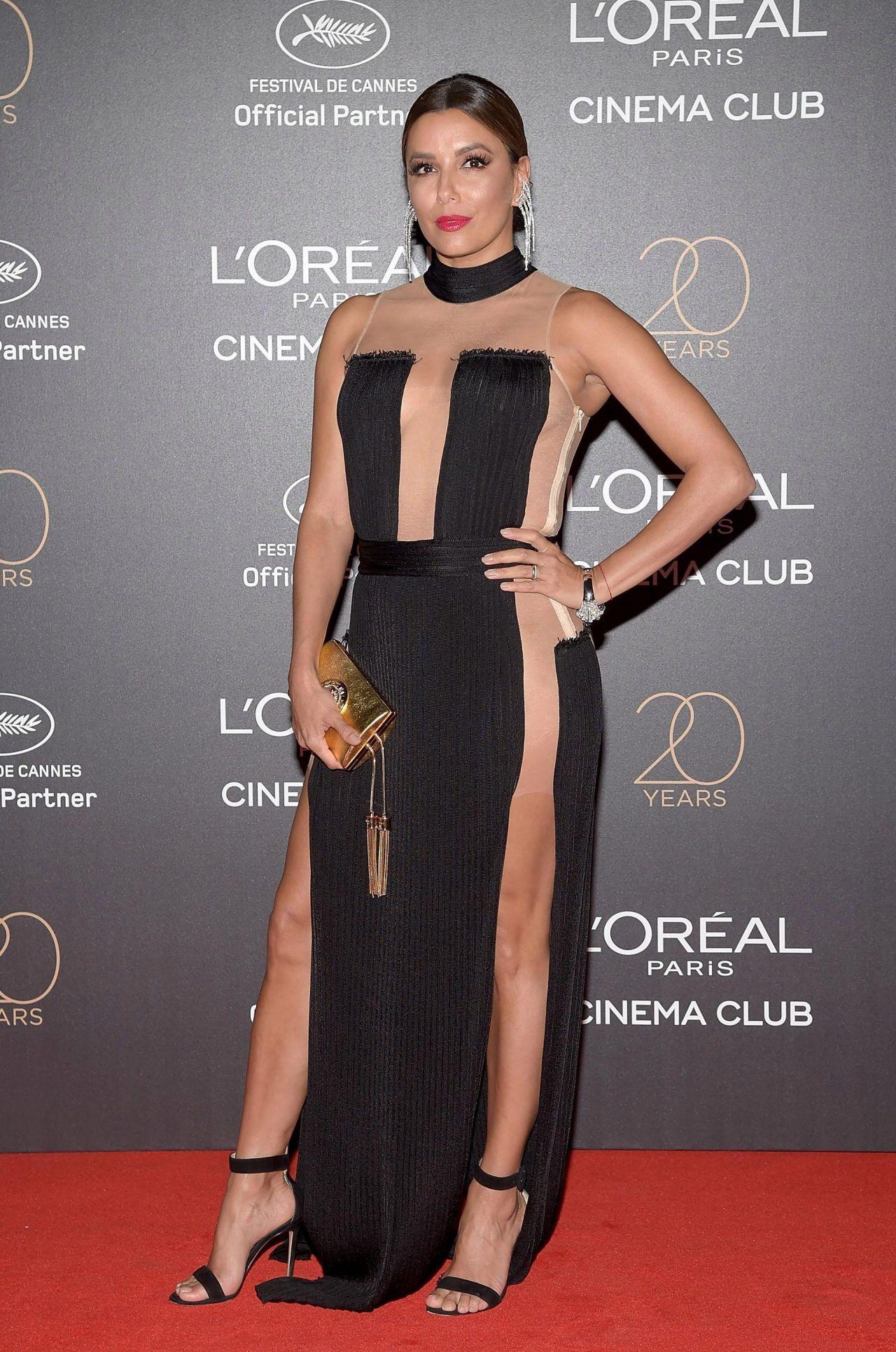 Eva Longoria On Red Carpet L Oreal 20th Anniversary