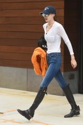 Gigi Hadid in Blue Jeans and Black Boots - NYC 05/29/2017