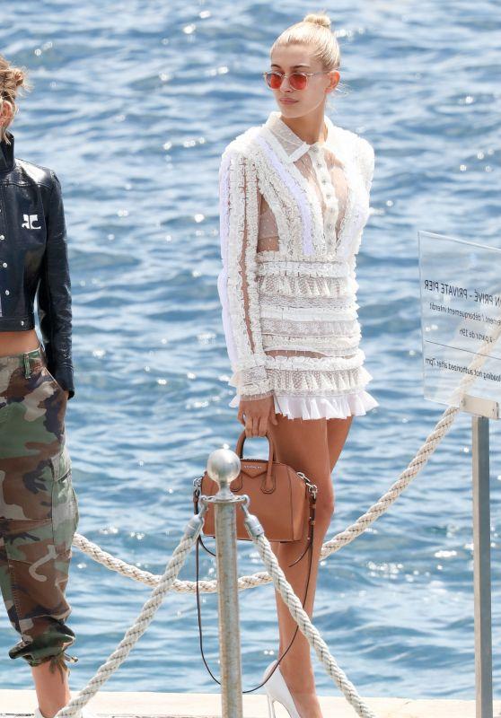 Hailey Baldwin Style - Leaving Eden Roc in Cannes 05/23/2017