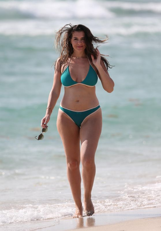 Imogen Thomas in Bikini at the Beach in Spain 05/07/2017