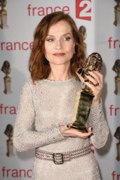 Isabelle Huppert Wins Lifetime Achievement Award at the 29th Molieres Awards in Paris 05/29/2017