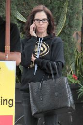 Jami Gertz Chatting on Her Phone - Shopping in Beverly Hills 05/09/2017