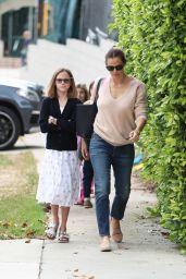 Jennifer Garner and Ben Affleck Take Kids to the Church 05/07/2017