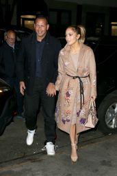 Jennifer Lopez Night Out Style - West Village, New York 05/08/2017