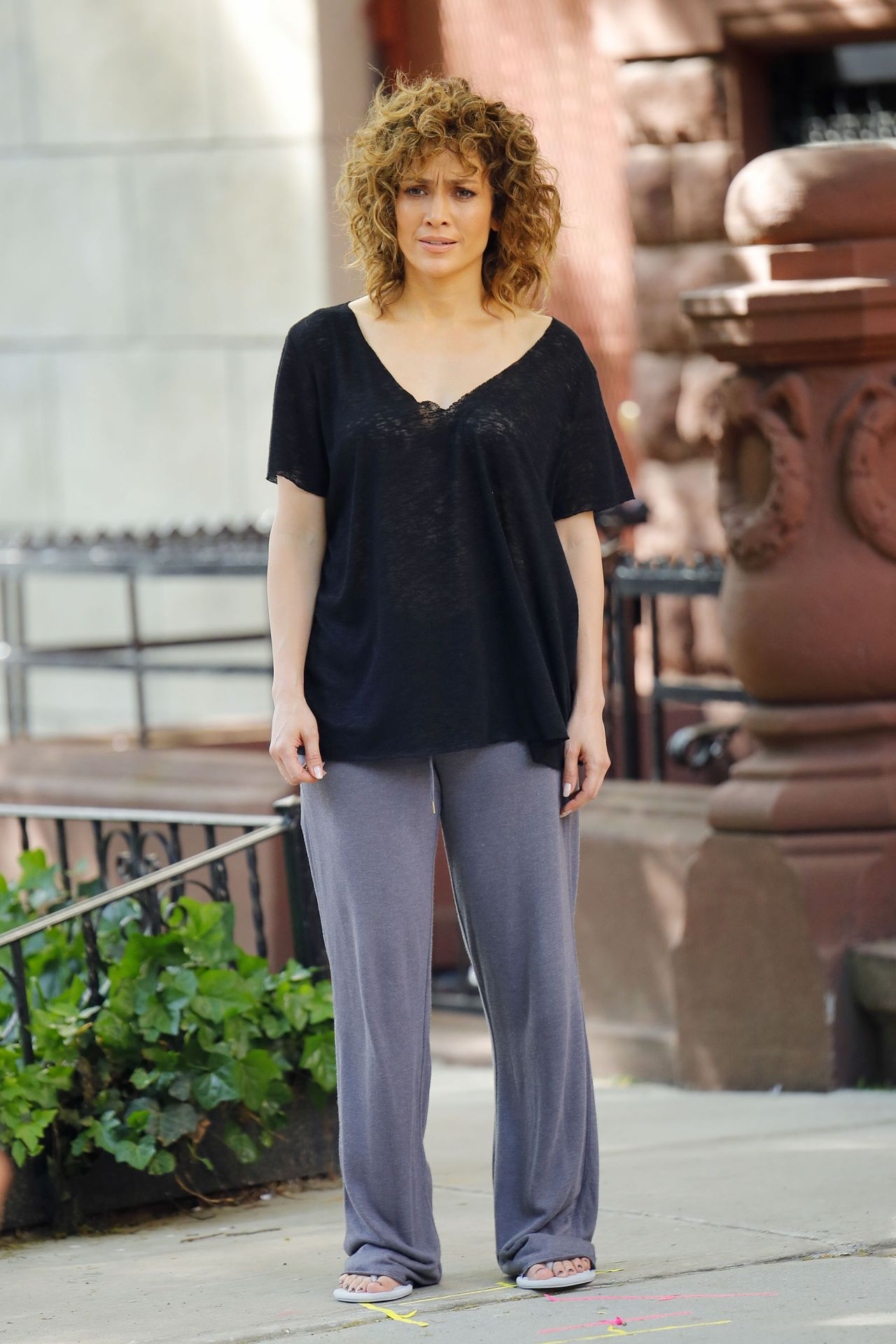 "Jennifer Lopez - ""Shades of Blue"" Set in New York 05/19/2017"