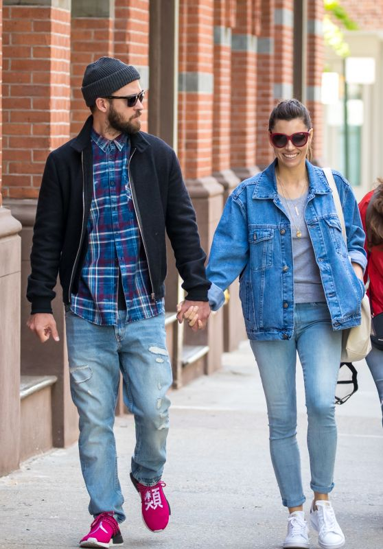 Jessica Biel Street Style - Out in New York 05/17/2017