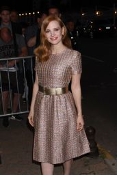 Jessica Chastain - Arriving at Chanel Dinner at Tetou restaurant in Cannes, France 05/24/2017