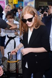 Jessica Chastain - Arriving at Nice Airport 05/16/2017