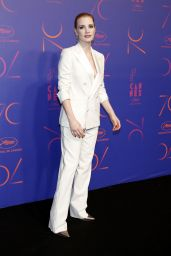 Jessica Chastain at 70th Anniversary Dinner – Cannes Film Festival 05/23/2017