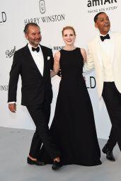 Jessica Chastain at AmfAR's 24th Cinema Against AIDS Gala – Cannes Film Festival 05/25/2017