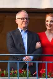 Jessica Chastain at the Martinez Hotel in Cannes, France 05/16/2017