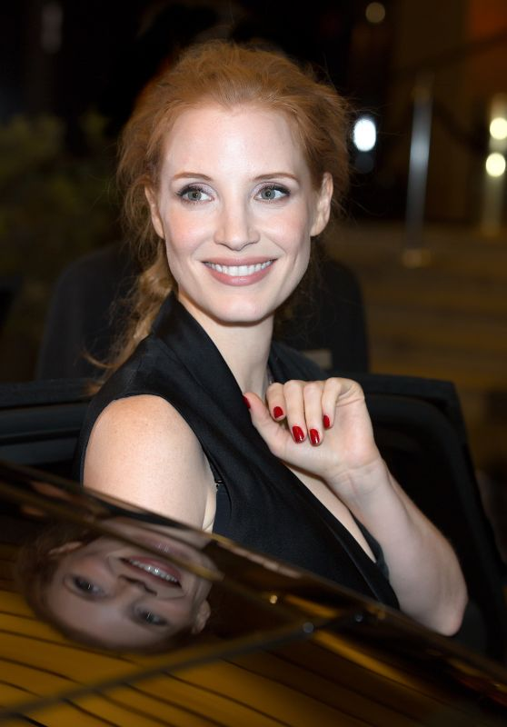 Jessica Chastain - Leaving the Marriot Hotel in Cannes, France 05/18/2017