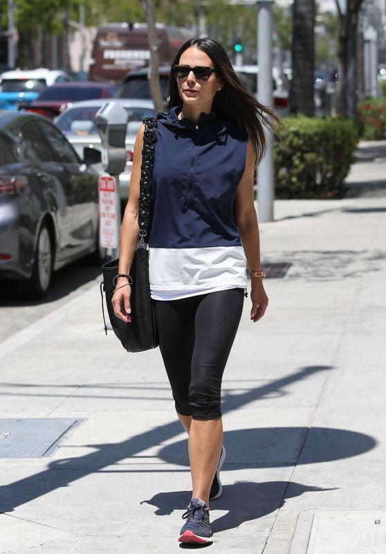 Jordana Brewster in Leggings - Sunny Spring Day in Beverly Hills 05/01/2017