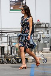 Jordana Brewster Street Style - Shopping at Whole Foods in Santa Monica 05/24/2017