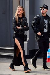 Josephine Skriver With Boyfriend Alexander Deleon in NYC 05/13/2017