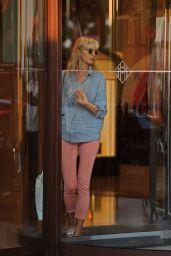 Karolina Kurkova - Leaving the Martinez Hotel in Cannes 05/27/2017