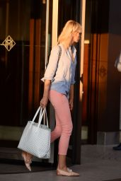 Karolina Kurkova - Leaving the Martinez Hotel in Cannes 05/27/2017