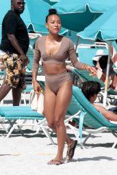 Karrueche Tran in Bikini - Beach in Miami 05/15/2017