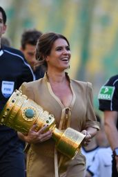 Katarina Witt - German Football Cup Final in Berlin 05/27/2017