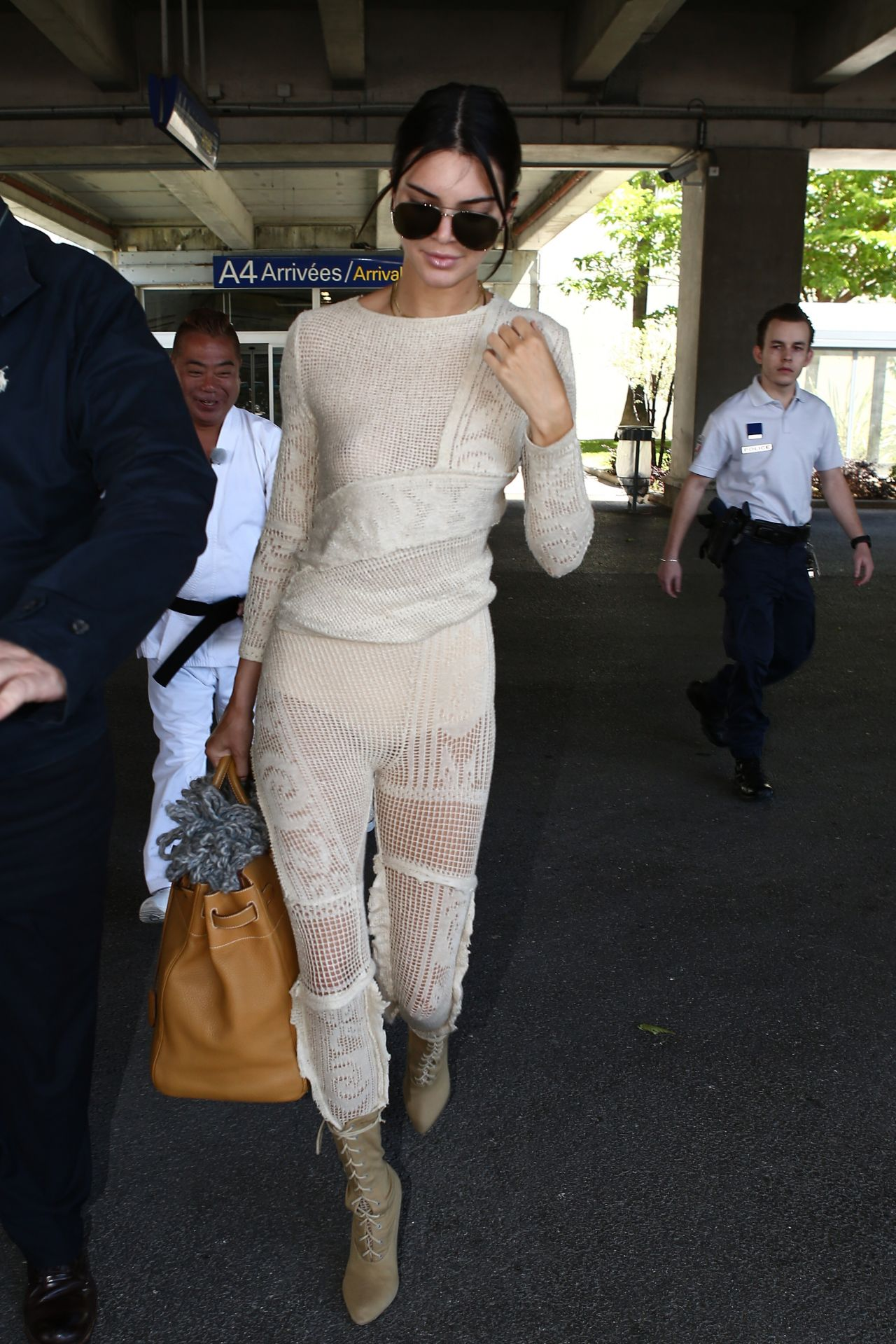 Kendall Jenner Arrives At Nice Airport For The 70th