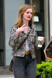 Kerris Dorsey in Leopard Fashion - Beverly Hills 05/11/2017