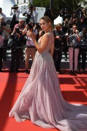 """Kimberley Garner on Red Carpet - """"How to Talk to Girls at Parties"""" Premiere in Cannes 05/21/2017"""