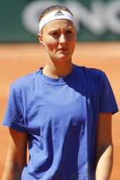 Kristina Mladenovic - Practice Session During the French Open, Roland Garros 05/27/2017