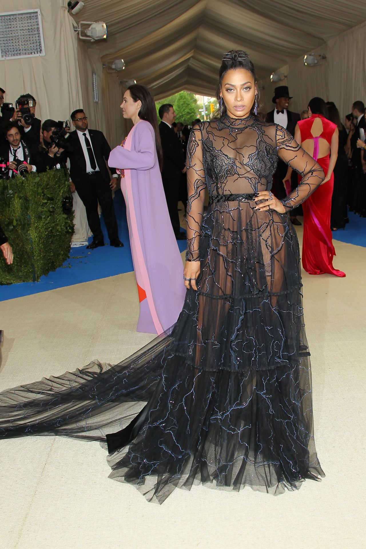 La La Anthony At Met Gala In New York on Red Carpet Show