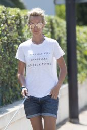 Lady Victoria Hervey - Out with Her Dog in Antibes 05/27/2017