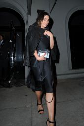 Lea Michele Night Out Style - Leaving Craig