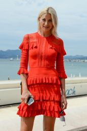Lena Gercke in a Red Dress During the 70th Cannes Film Festival 05/18/2017