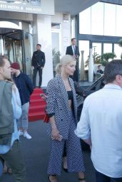 Lena Gercke Style - Leave the Radisson Hotel in Cannes 05/17/2017