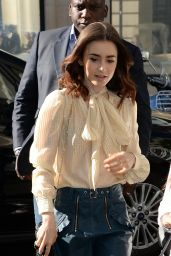 Lily Collins at BBC Radio 2 in London, UK 05/26/2017