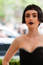 Lily Collins at MET Costume Institute Gala in New York 05/01/2017