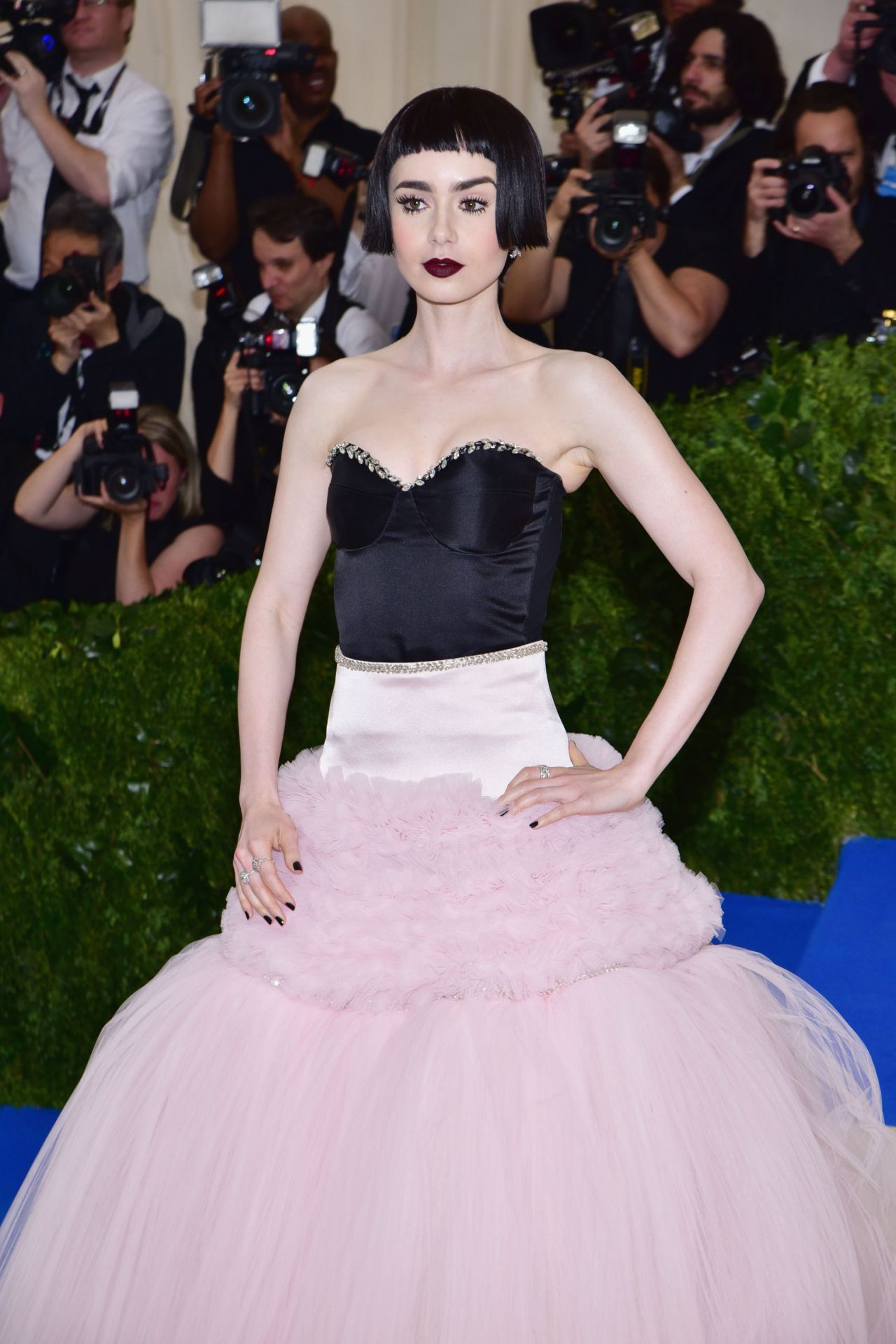 Lily Collins At Met Costume Institute Gala In New York 05