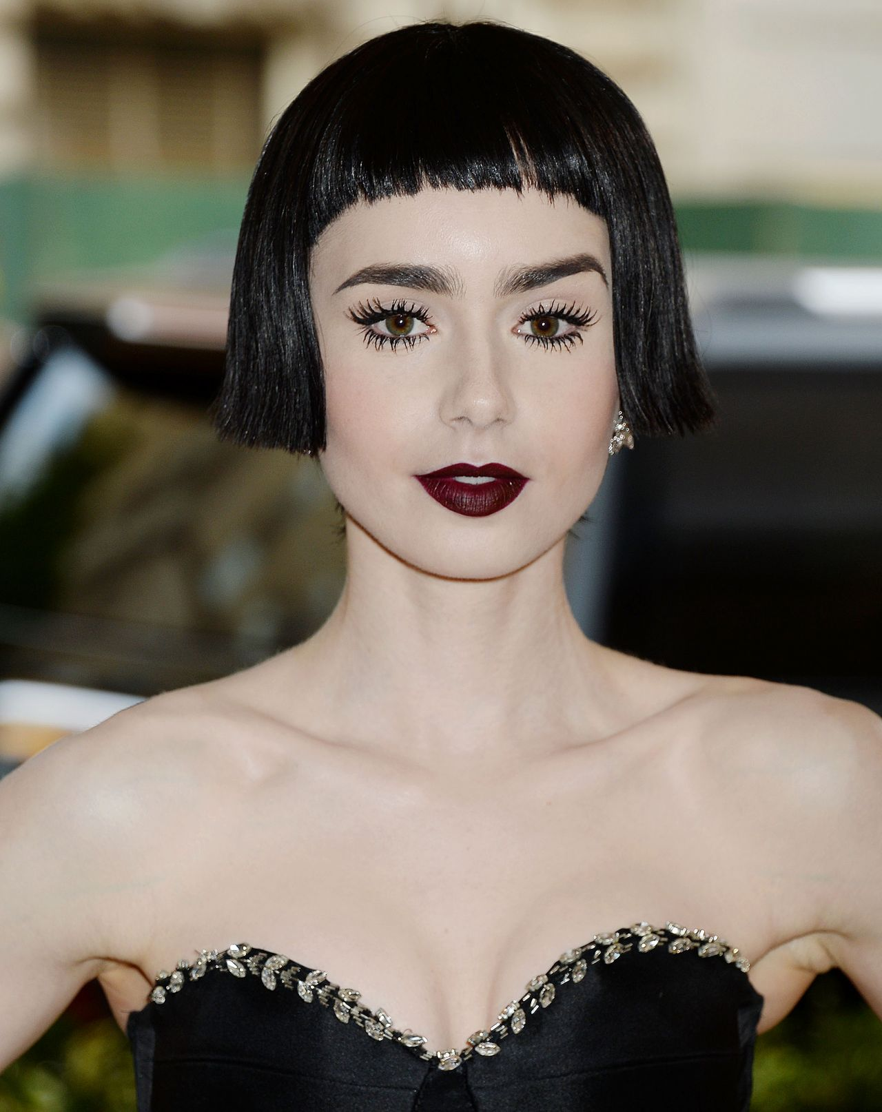 Lily Collins at MET Co...