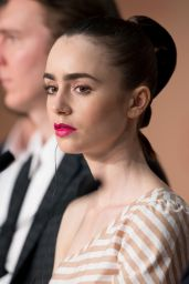"Lily Collins at ""Okja"" Press Conference in Cannes, France 05/19/2017"