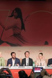 """Lily Collins at """"Okja"""" Press Conference in Cannes, France 05/19/2017"""
