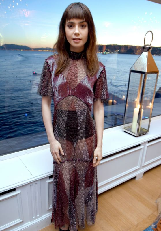 Lily Collins at Vanity Fair and HBO Dinner - Cannes Film Festival 05/20/2017