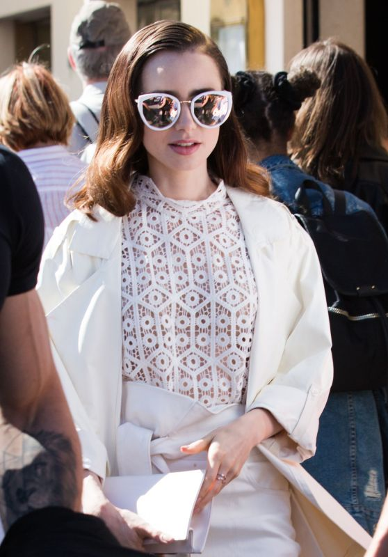 Lily Collins is Looking All Stylish at Croisette in Cannes, France 05/20/2017